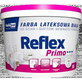 Lateksowa farba biała wewnętrzna Reflex Primo