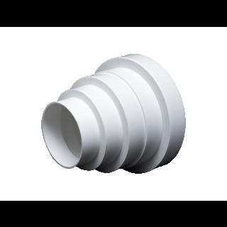Redukcja okrągła biała 80-160