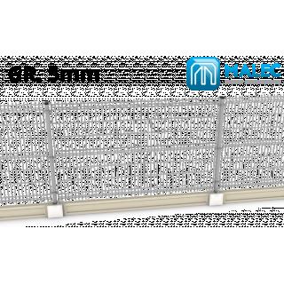 Panel ogrodzeniowy 3D 5/5 mm Malec