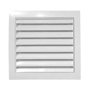Osłona wentylacji zamykana z siatką biała