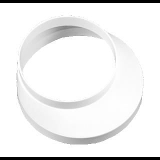 Redukcja okrągła boczna biała 100/125