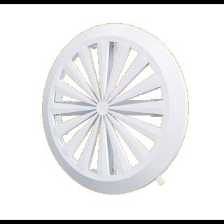 Kratka wentylacyjna regulowana biała śr. 90-160 mm