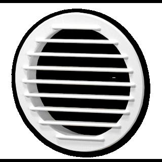 Kratka wentylacyjna prosta z siatką biała śr. 100 mm