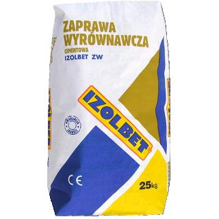 Zaprawa wyrównawcza cementowa IZOLBET 25kg