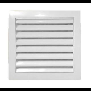 Osłona wentylacji z siatką biała